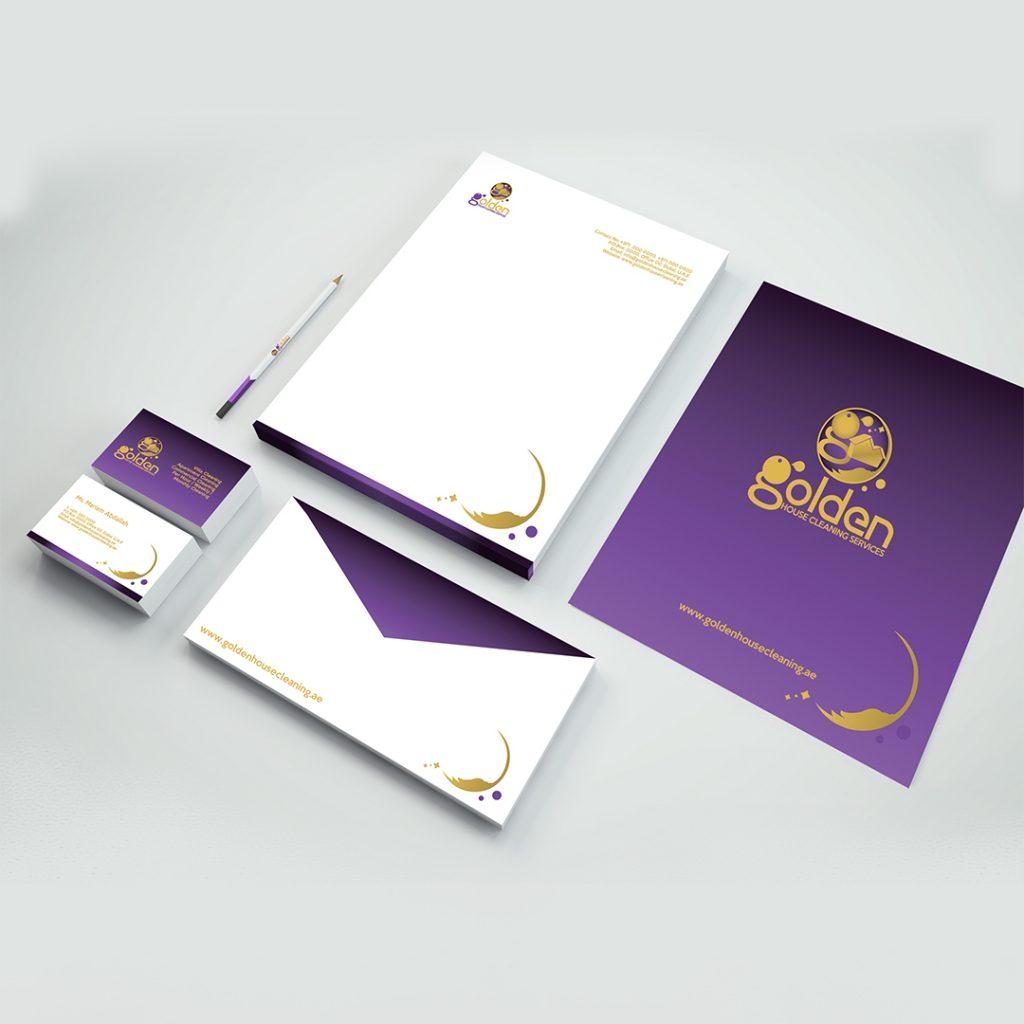 Branding Collaterals - Business Cards, Letterhead, Envelope Design
